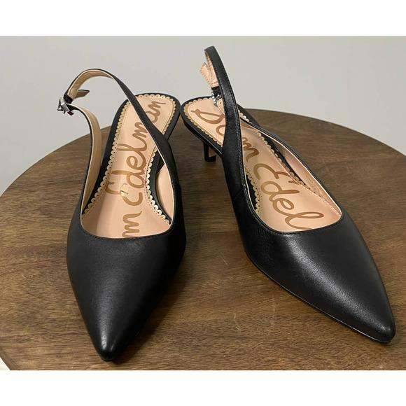 Sam Edelman Black Slingback Heel Size 6
